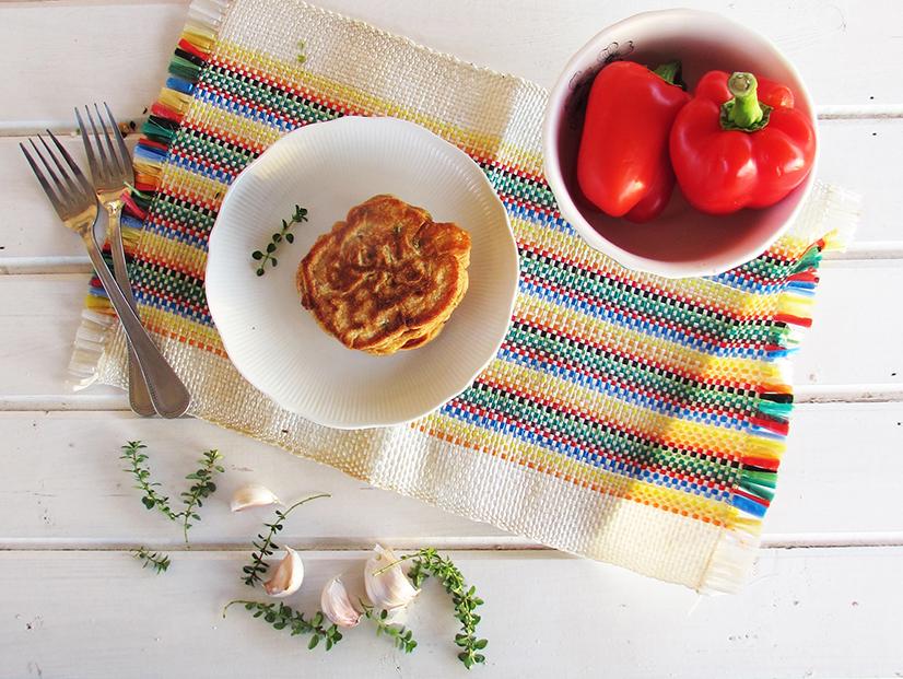 פנקייק תירס קרם פלפלים קלויים